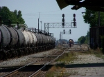 PPTX 2659 and a Line of tank cars with another CSX train in distance