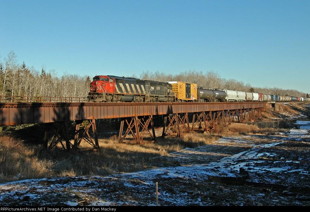 CN 5531 on Bear Creek Trestle