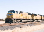 UP 4165 #1 power in WB intermodal at 1:06pm