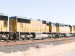 UP 4554 #2 power in WB intermodal at 1:06pm
