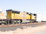 UP 5166 #4 power in WB intermodal at 1:06pm