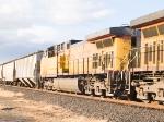 UP 5745 #4 in EB grain train at 4:03pm