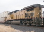 UP 9613 #4 in EB intermodal at 4:15pm