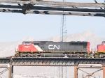 CN 5622 leads a WB autorack at 12:50pm