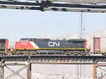 CN 2524, #2 in WB autorack at 12:50pm
