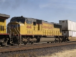 UP 4646 #4 in WB intermodal at 1:48pm