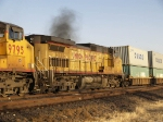 UP 9734 #3 in WB intermodal at 4:42pm