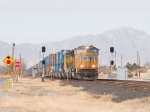 UP 4781 leads an EB intermodal at 12:40pm