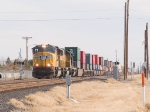 UP 4800 leads a WB intermodal at 2:27pm