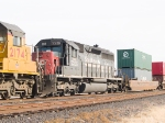 GECX 7325 #3 in WB intermodal at 2:27pm