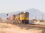 UP 3862 leads an EB intermodal at 3:16pm