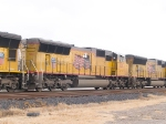 UP 5207 #2 in EB intermodal at 11:39am