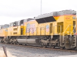 UP 8342 #3 in WB intermodal at 12:02pm