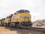 UP 5282 leads an EB autorack/intermodal at 12:33pm