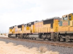 UP 4578 #2 and UP 9666 #3 in WB intermodal at 12:52pm