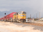 UP 5010 leads an EB intermodal at 1:02pm