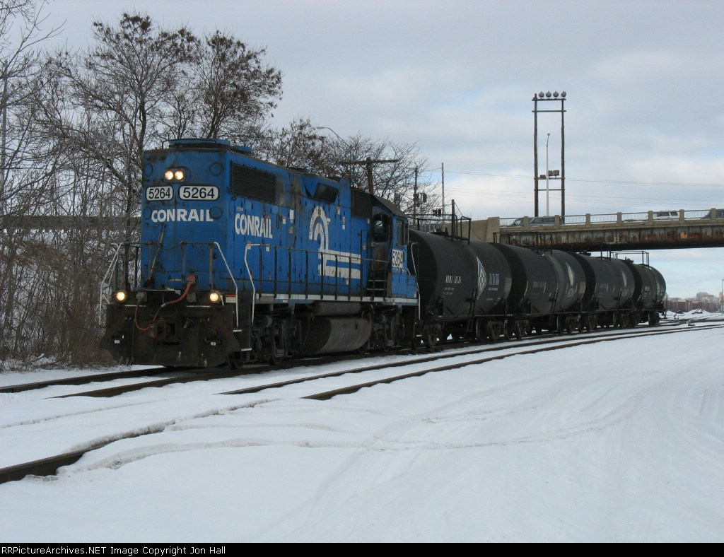 NS 5264 leading B47 out of the yard