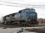 CSX 7326 & 8029 leading Q326-06 out of the yard