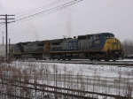 CSX 7882 & 9030 leading Q326-08 into the yard