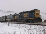 CSX 2573 & 9245 working to east end