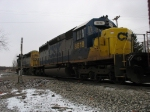 CSX 8818 trailing behind 8100