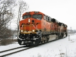 Just out of Wyoming Yard, D801 heads west for pusher duty