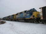 CSX 2672, 5946, 7500 & 8838 rolling away