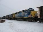 CSX 2672, 5946, 7500 & 8838 rolling away