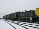 CSX 1146 following 142 & 703 on N905 into the yard
