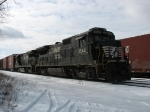 NS 3542 & 3544 leading 36E through the yard