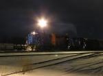 MQT cutting off their train under the yard lights