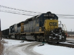 CSX 8444 & 8747 pulling K351 out of the yard