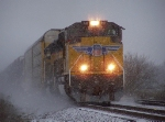 Southbound Auto Train in the Snow