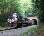 NS 8351 Exiting Musconetcong Tunnel
