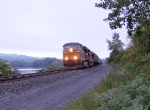 CSX 5487 at Lock #10 on the Mohawk River
