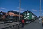 Changing power on the westbound Empire Builder