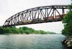 "ABS ""Artesia"" train over Tenn-Tom Waterway"
