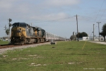 CSXT 7697 & CSXT 5219 on RBBX Blue train Southbound to Miami, FL.