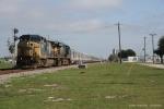 CSXT 7697 & CSXT 5219 on RBBX Blue train Southbound to Miami, FL.