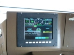 Computer screen with speedometer in engineers seat on the NS 2679