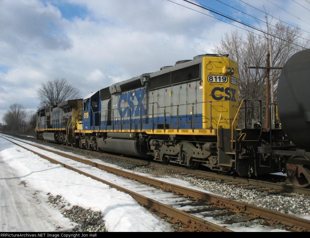 CSX 8119 & 456