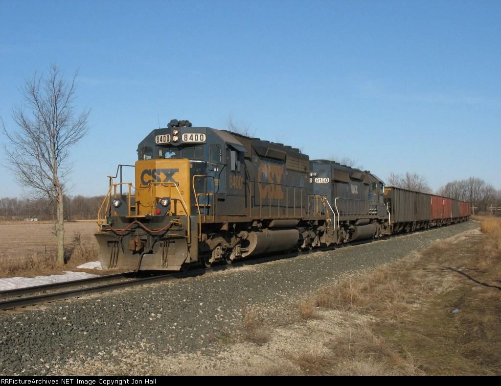 CSX 8400 & HLCX 8150 leading K351