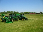 The new John Deere's are on display as 908 waits nearby
