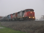 CN 5432 leading through the morning mists