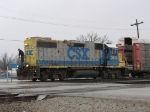CSX 2613 rolls across Carpenter Road with D737