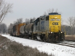 CSX 2631 starting down the siding with D700
