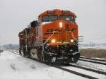 D801-18 pulling through the siding