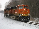 BNSF 5906 & 8949 roll down the hill