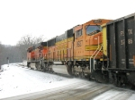 BNSF 9927 & 5915 with a green signal