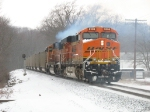 BNSF 5906 & 8949 (D801) pushing hard as the head end of N956 starts up the hill